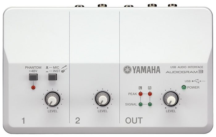 Yamaha AUDIOGRAM- 3 In/2 Out USB Interface AUDIOGRAM-3