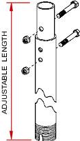5-7 ft. Adjustable Multi-Display Drop Column