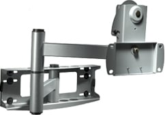 """Articulating Wall Arm (for 32""""-50"""" Screens, No Adapter Plate, Silver)"""
