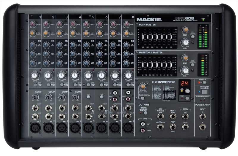 8 Channel 1000 Watt Powered Mixer