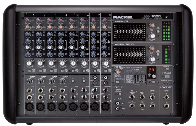 8-Channel 1600W Powered Mixer