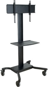 "Universal Flat Panel TV Cart (for 32-60"" Screens, with Metal Shelf)"
