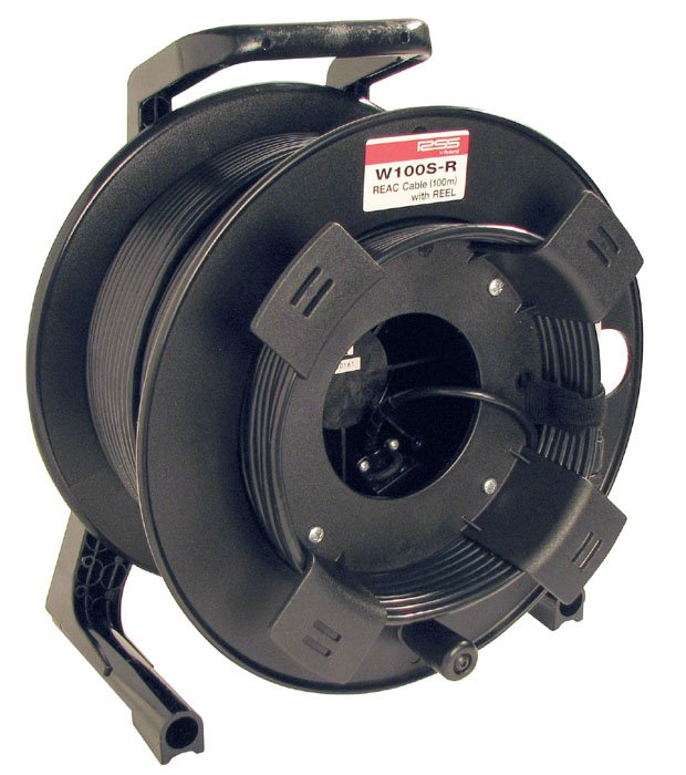 100 Meters of REAC Premium Cat5e Cable with Locking Reel