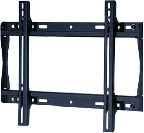 "Flat Wall Mount for Medium 23"" - 46"" LCD Screens, Black (silver shown)"