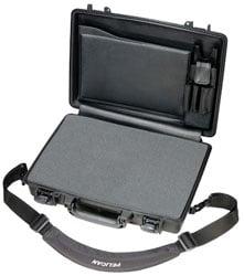 Notebook Computer Case with Lid Organizer & Shoulder Strap
