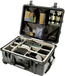 Large Black Case with Padded Dividers