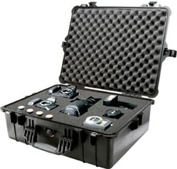 Large Black 1600 Case with Padded Dividers