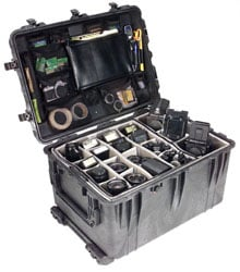 Large O.D. Green Pelican Case with Wheels