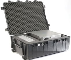 Large Black Transport Case with Wheels