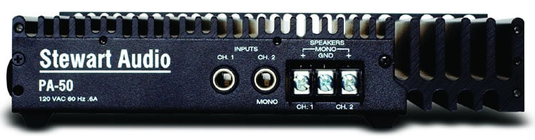 Professional Power Amplifier,50W x 2 @ 4 Ohms, 25W x 2 @ 8 Ohms