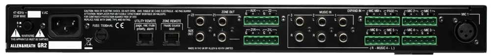2 Zone, 9 In/4 Out Analog Zone Mixer