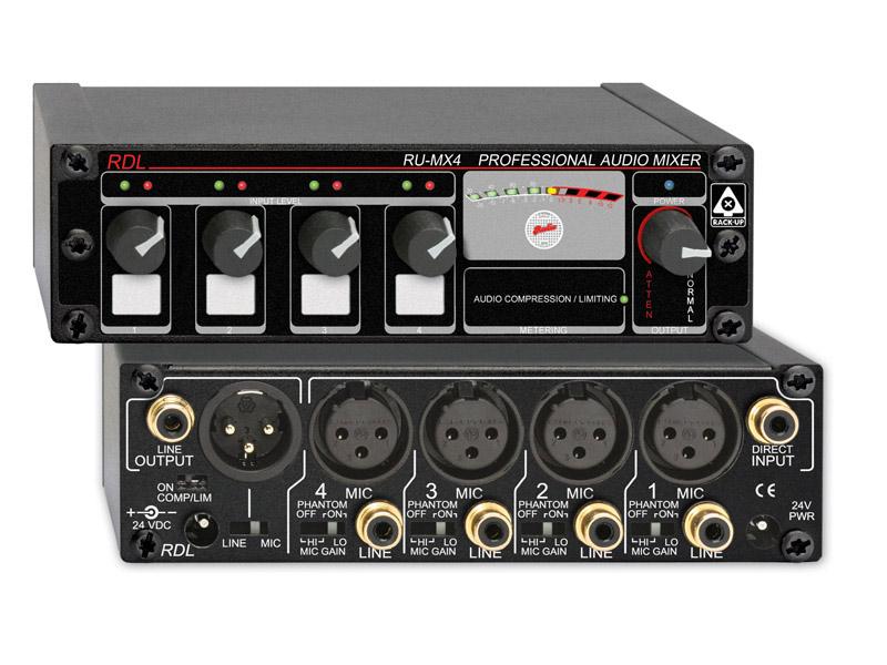 Radio Design Labs RU-MX4 4-Input Microphone/Line Mixer RUMX4