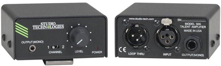Studio Technologies MODEL-32A IFB Plus Talent Amplifier MODEL-32A