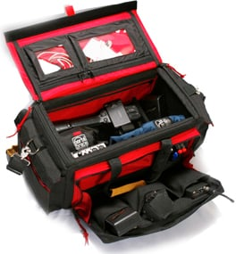 DV Organizer Case (for DV Camcorders, Black with Red Trim)