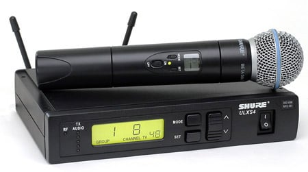 Wireless Handheld Microphone System with Beta58 Capsule