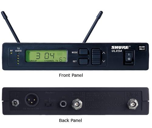 Shure ULXS4-G3 UHF Standard Receiver 470-505 MHz ULXS4-G3