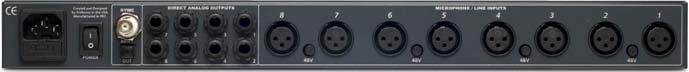 8-Channel Preamplifier with 24-Bit ADAT Digital Output