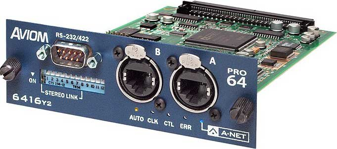 16x16 A-Net Pro64 I/O Expansion Card for Yamaha Products Supporting Yamaha's MY Expansion Card Format