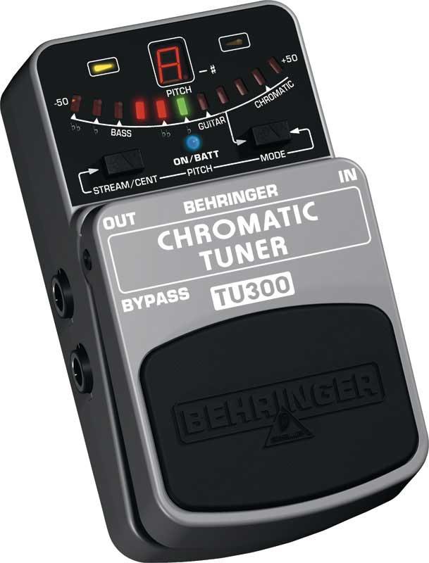 Chromatic Tuner Pedal for Guitars & Basses
