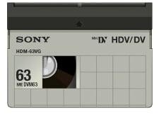 HDV Tape 63 Minute