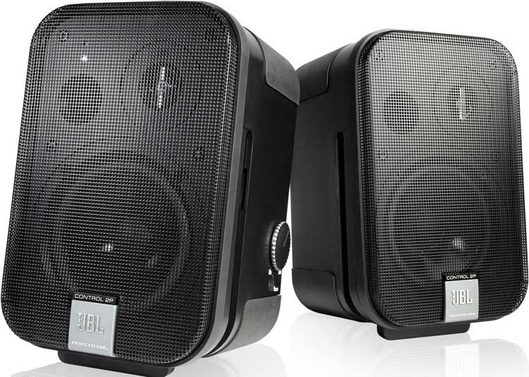JBL Control 2P System Compact Powered Reference Monitor with Master & Extension Speakers C2PS