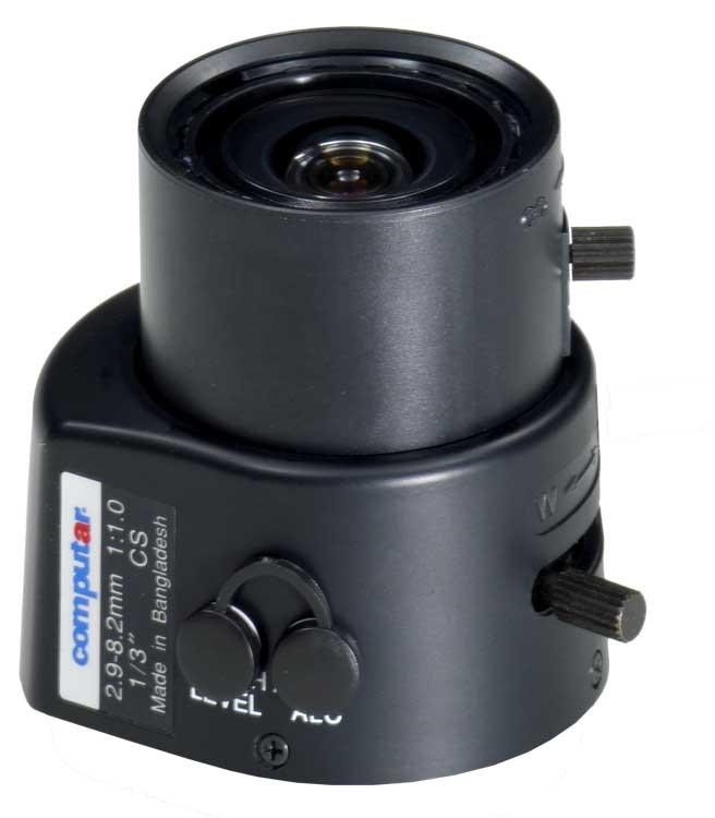 "Lens, 1/3"" 2.9-8mm f1.0 Varifocal, Auto Iris, CS Mount"