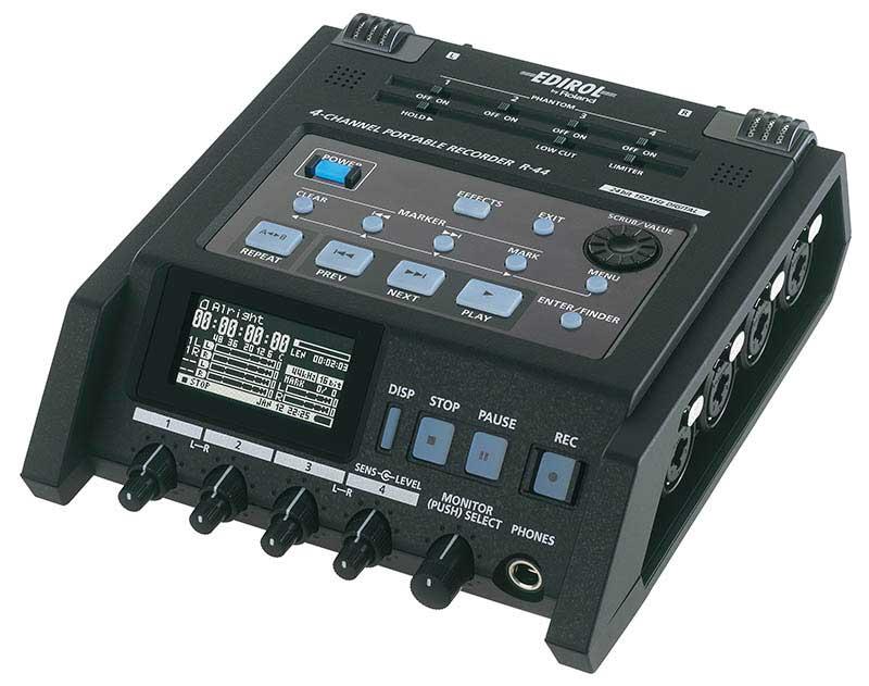 4-Channel Portable WAV/MP3 Recorder, SDHC, 24-bit/96kHz