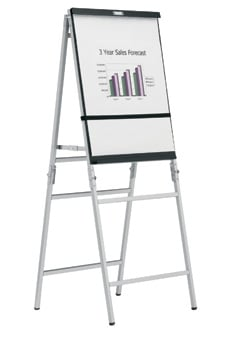 Black/Silver Anodized A-Frame Easel