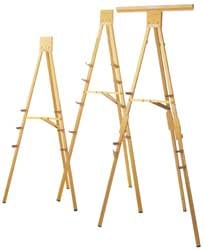 H323 Heavy Duty Gold Anodized Display Easel
