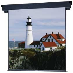 "69"" x 92"" Boardroom® Electrol® Matte White Projection Screen"
