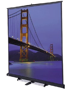 10' x 10' Gray Carpeted Floor Model C™ Matte White Projection Screen