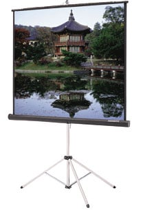 "50"" x 67"" Carpeted Picture King® Matte White Projection Screen with Keystone Eliminator"