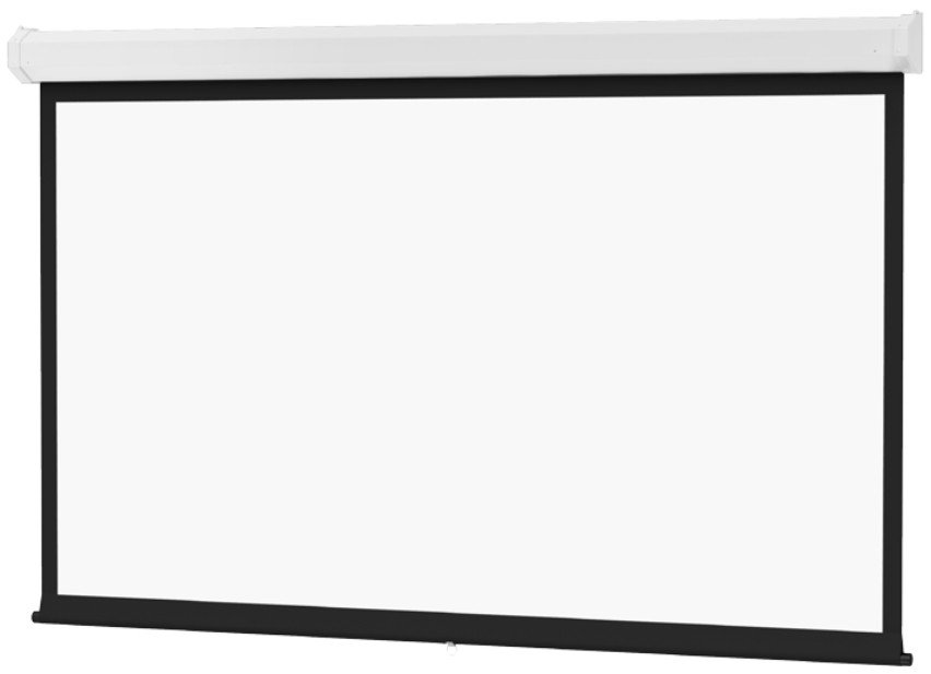 12ft x 12ft Model C Matte White Spring Roller Type Screen with Controlled Screen Return