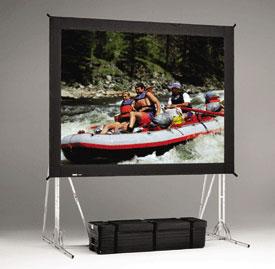 Da-Lite 84817 11.5' x 15' Fast-Fold® Truss Frame Da-Mat® Projection Screen 84817