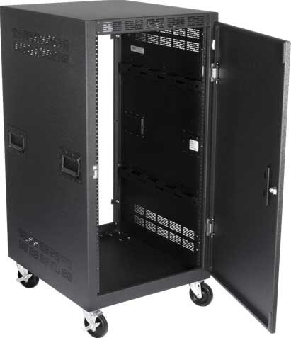 21 Space Vertical Rack with Solid Front Door