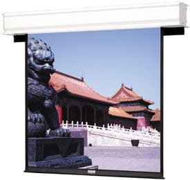 "69"" x 92"" Advantage Deluxe Electrol® Matte White Screen"