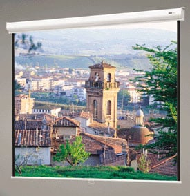 "84"" x 84"" Designer Contour® Manual Matte White Screen with CSR"