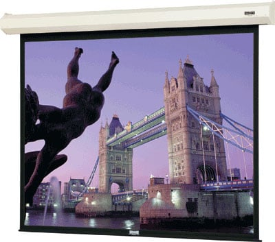 "78"" x 139"" Cosmopolitan® Electrol® Matte White Screen with LVC"