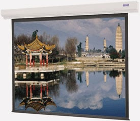 "69"" x 92"" Designer Contour Electrol® Matte White Screen with Low Voltage Control"