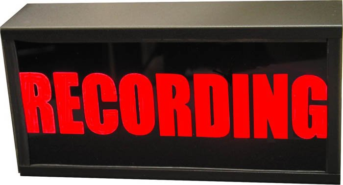 """110V AC """"RECORDING"""" Studio Warning Light"""