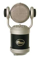 Blue Microphones Mouse Cardioid Condenser Microphone with Rotatable Capsule in Matte Black MOUSE