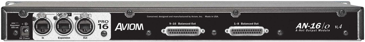 16 Channel Line Level Output Module for Aviom Pro16 with DB25 Outputs