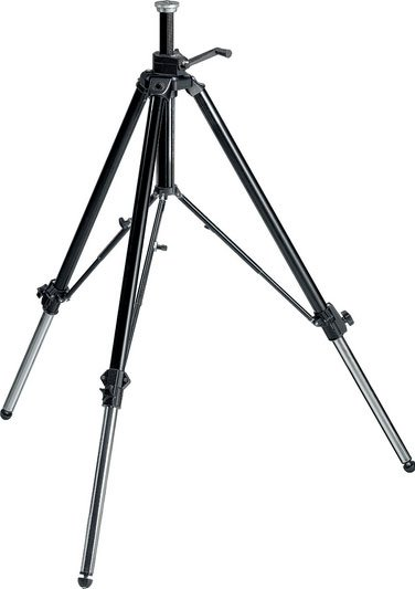 Video Tripod, Geared with Rubber Feet, Retractable Metal Spikes