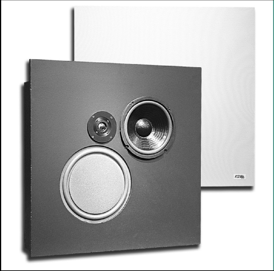 KSI Professional 8081-CS-FR Two-Way Speaker (with Backbox, Fire Retardant Cabinet Material) 8081CS-FR