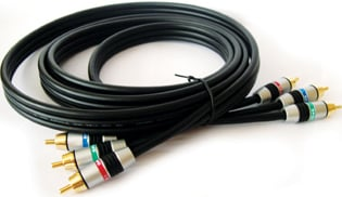 3 RCA Male to 3 RCA Male Component Video Cable, 100 Feet