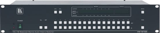 16x16 Balanced Stereo Audio Matrix Switcher