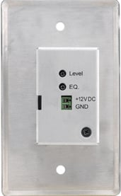 Wall Plate, Active: 15-Pin HD Twisted Pair Receiver