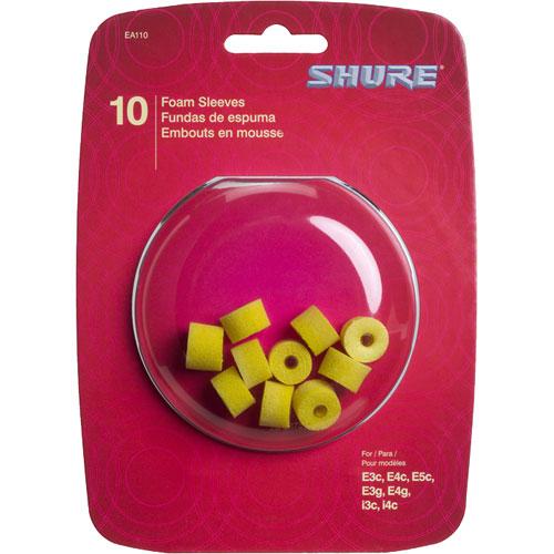 Yellow Foam Sleeves, 5 pair