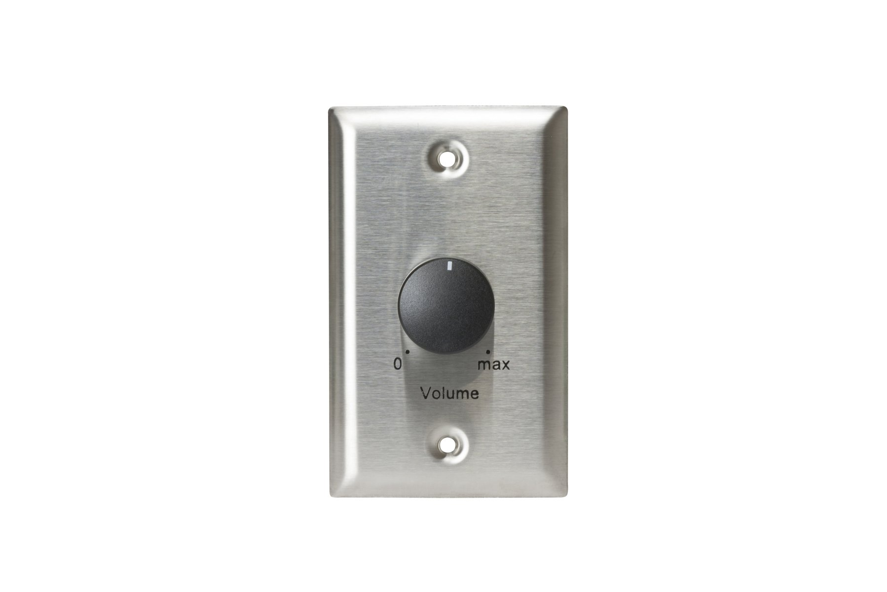 25W Stainless Steel Single-Gang Volume Control Attenuator Wall Plate