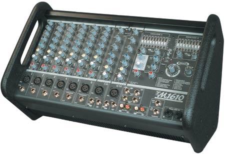 Powered Mixer, 16Ch, 800W